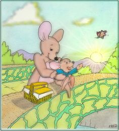 Kanga and Roo Roo Winnie The Pooh, Pooh Bear, Tigger, Disney Animated Movies, Disney Movies, Disney Characters, Movie Q, Old Disney Channel, Disney Animation