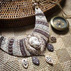 """Polymer clay necklace / Колье, бусы ручной работы. Ярмарка Мастеров - ручная работа. Купить Колье """" Африка"""". Handmade. Колье, африканский стиль"""
