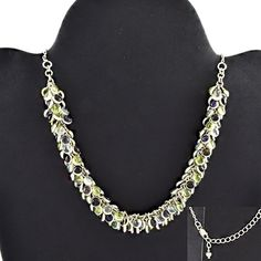 BEADED DESIGNER 925 STERLING SILVER NECKLACE FOR WOMEN'S IN MULTI STONES #SilvexImagesIndiaPvtLtd #Necklace