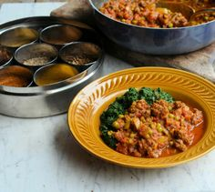 Memories of Hong Kong and a New 5:2 Diet Recipe: Minced Beef and Mint Kheema - 230 calories per portion