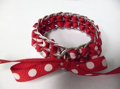 Recycled Pop Can Tab Bracelet. We don't ever buy soda, so feel free to collect your soda tabs and give them to me. :)