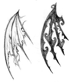 wing tattoo sketches by ~wardy360 on deviantART PERFECT.