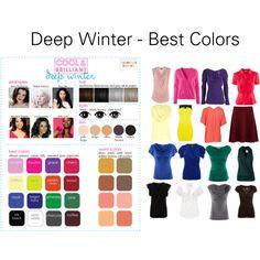 """Deep Winter - Best Colors"" by katestevens on Polyvore"