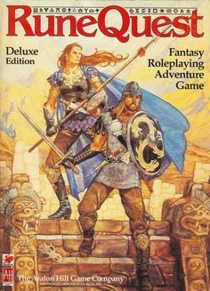 RuneQuest Deluxe Edition really nice old Avalon Hill RPG didn't realize this is/was the Chaosium Basic Roleplaying System back in the day.