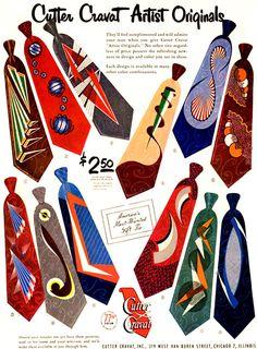 Cutter Cravat Artist Originals ~ Adverts [1950's] – Retro Musings
