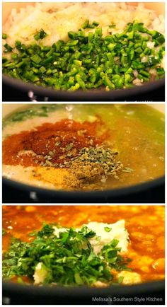 This kickin' Tex Mex Chicken Taco Soup makes an inexpensive and festive meal. It's one of those flavor packed dishes that's even better the next day. Tex Mex Chicken, Chicken Taco Soup, Melissas Southern Style Kitchen, Mexican Food Recipes, Ethnic Recipes, Bread Rolls, Curry, Tacos, Meals