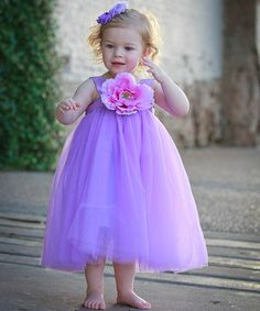 Take a look at this Purple Ella Princess Dress - Infant, Toddler & Girls by Heart to Heart on #zulily today!