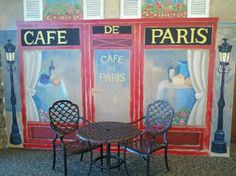 Paris Cafe Mural by D.K. Pritchett