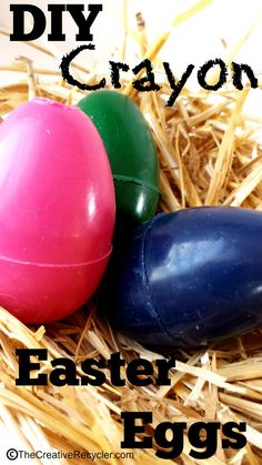 Use up those old broken crayons by making Easter Egg crayons for fun Easter Basket gifts.
