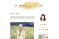 SALE Responsive blogger premade blog template by bellaluluink