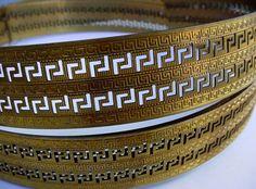 Per Foot Egyptian Roman Keyhole Design Vintage by VintageBrassShop