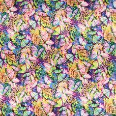 Satin Abstrakt 2 - Polyester - Elasthan - Farbmix