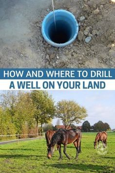 How And Where To Drill A Well On Your Land - Having your own well, will not only ensure you have fresh, clean water when ever you need it, but you will be self sufficient and off the grid, saving you money in the long term. Well Water System, Water Systems, Survival Tips, Survival Skills, Survival Stuff, Survival Quotes, Outdoor Survival, Water Well Drilling, Drilling Rig