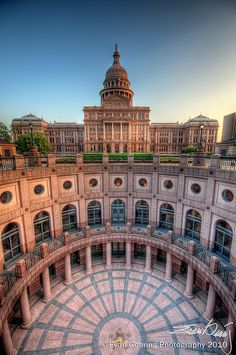 Texas capitol, taller than the U. Capitol, made from regionally-sourced granite. Texas Usa, Austin Texas, The Places Youll Go, Places To See, Ecuador, Nevada, Texas State Capitol, Visit Texas, Utah
