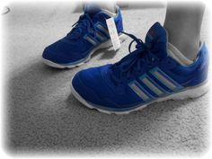 My blue Adidas running shoes!