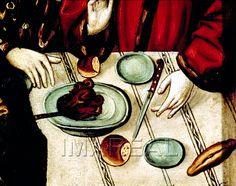 Gastmahl der Hl. Elisabeth auf der Wartburg Kunstwerk: Temperamalerei-Holz ; Einrichtung sakral ; Flügelaltar Elisabethaltar ; Slowakei ; Elisabeth:05:007-011  Dokumentation: 1480 ; 1500 ; Bardejov ; Slowakei ; Pfarrkirche St. Ägidius  Anmerkungen: 800x630 ; Bardejov