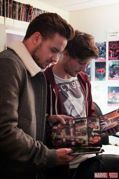 Liam and Louis at the Marvel offices!  My 2 most favorite things in the world combined