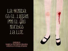 La herida es el lugar por el que recibes la LUZ.  Rumi (poeta y místico) #secretosdefelicidadcotidiana #diariodeunabrujamoderna #crecimientopersonal #citas