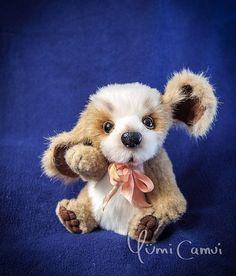 Cute kawaii Teddy Bear dog spaniel puppy artist handmade OOAK by Yumi Camui #AllOccasion