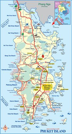 kata beach Phuket Thailand Attractions map Kata Beach Tourist Map