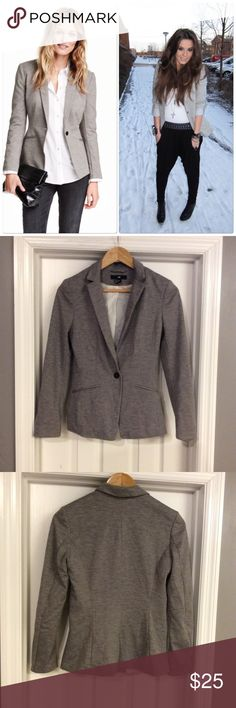 H&M Grey Jersey Blazer Goes with everything! Good condition! H&M Jackets & Coats Blazers