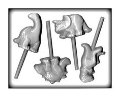 Dinosaur Lollipop Hard Candy Mold