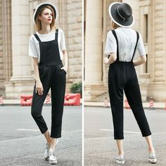 2 Pieces Women's Sets White Tops and Elastic Black Rompers Diamond Butterfly Jumpsuit