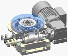 Kurvenantrieb mit Zylinderkurve - Category:Animations of gears and gearboxes - Wikimedia Commons