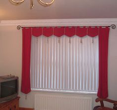 Idea For Valance With Vertical Blinds