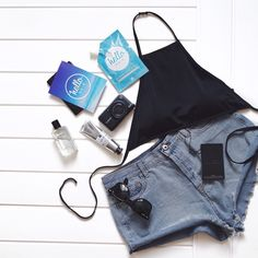 What is beach wear without a little bit of blue?