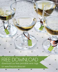 Free Printable Wine Tags wine & cheese tasting party ideas #thepartydressmagazine