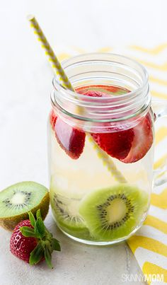 Try this strawberry kiwi slimdown water out tonight!