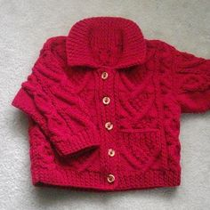 5d062901b Garrett cable aran jacket for toddler PDF knitting by PurplePup Kids  Knitting Patterns