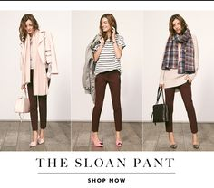 The Sloan Pant | 5 easy pieces 3 ways to wear August '15