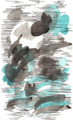 Original Painting. Ink Painting. Small abstract by DreamyMeisme