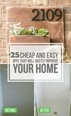 25 DIY Ideas That Will Improve Your Home   http://www.diycomfyhome.com/25-diy-ideas-that-will-improve-your-home/
