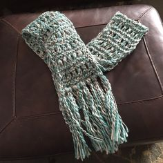 American Eagle long scarf Beautiful and soft Aqua, White and Black scarf American Eagle Outfitters Accessories Scarves & Wraps