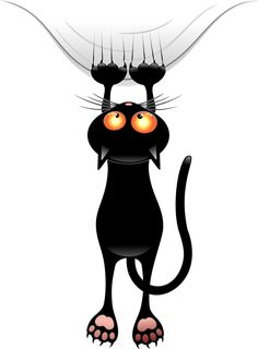 Funny Cat Shower Curtain by goatlady_GetYerGoat - CafePress Cartoon Cartoon, Cartoon Images, I Love Cats, Cute Cats, Funny Cats, Cat Clipart, Black Cat Art, Black Cats, Witch Cat