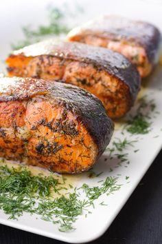 Grilled Salmon Steaks   Recipe International
