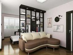 Sillon, separador de areas, colores de paredes y techo, reloj de pared
