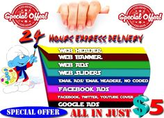 design a Professional web banner,header,ad,cover by graphicsgod666