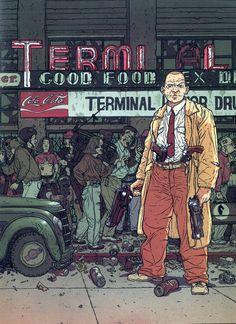 Ben Wheatley & Tom Hiddleston may make Frank Miller & Geof Darrow's Hard Boiled Comic Book Artists, Comic Artist, Comic Books Art, Frank Miller, Jean Giraud, Geof Darrow, Character Art, Character Design, Character Ideas