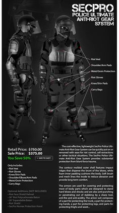 The ULTIMATE Anti-Riot Gear System #SecurityProUSA #Security #Pro #USA #Tactical #Military #Law #EmailBlast #Newsletter #Promo #Deal #Riot #RiotGear #AntiRiot #Anti #Gear #System #Maneuver #ManeuverGear #Police #Officer #Government #Military #Law #LawEnforcement #Tactical #RiotSuit #Suit #Ultimate #Guard #Protection