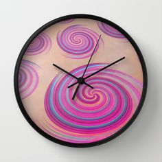 Curls Wall Clock by Christine baessler - $30.00