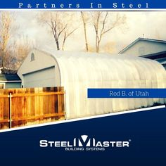 Partners in Steel: Rod B. of Utah built used the space he had to fit in his new SteelMaster! What do you think of this one? #partnersinsteel #pis    If you're ready to build your own SteelMaster, check out our clearance prices here:http://qoo.ly/ditgt