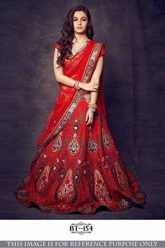 75497ab11 Fashion Smart Designer Lehenga Bt-154 Fabrics Details   Lehenga Fabrics   Nylon  Net