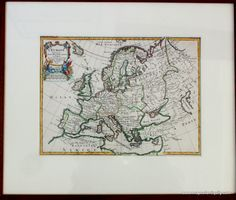 Framed Antique Map of Europe - Great for Father's Day – Original, Vintage, Rare Historical Antique Maps, Charts, Prints, Reproductions of Maps and Charts of Antiquity - MapsofAntiquity.com