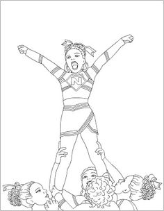 free coloring pages cheerleading coloring pages