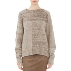 Isabel Marant Alpaca Naoko Patchwork Sweater Isabel Marant Naoko pullover sweater, knit in an asymmetric patchwork pattern  Rib-knit jewel neckline, cuffs and bottom; fully fashioned raglan sleeves Made in Italy Paneled, ribbed trims Slips on 31% mohair, 30% polaymide, 26% wool, 13% alpaca Hand wash Fits true to size, take your normal size Designed for a slightly loose fit Mid-weight knit FR 42 US 10 Bought at Barneys NY worn twice and cleaned Isabel Marant Sweaters Crew & Scoop Necks