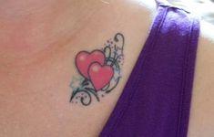 double heart tattoos